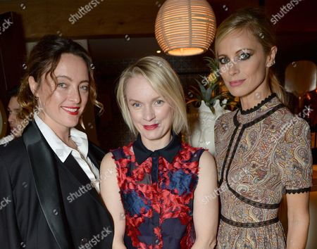 Alice Temperley, Lorraine Candy and Laura Bailey