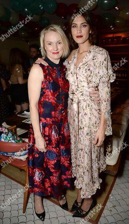 Lorraine Candy and Alexa Chung