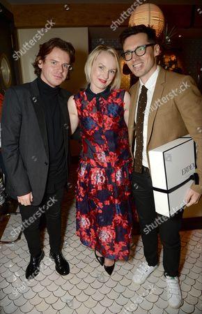 Christopher Kane, Lorraine Candy and Erdem Moralioglu