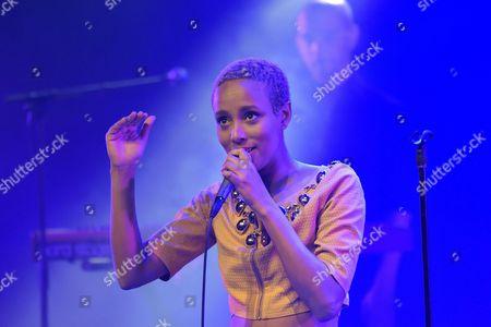 Israeli singer Ester Rada in concert at the Festival les Primeurs de Massy at the cultural center Bailliart Paul (Paul B).