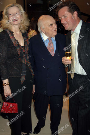Annabelle Whitestone, Lord Weidenfeld and Piers Morgan