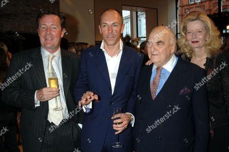 Piers Morgan, Dylan Jones, Lord Weidenfeld and Annabelle Whitestone