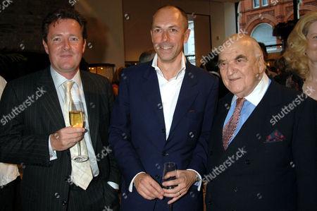 Piers Morgan, Dylan Jones and Lord Weidenfeld