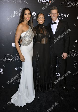 Padma Lakshmi, Alicia Keys and Peter Twyman