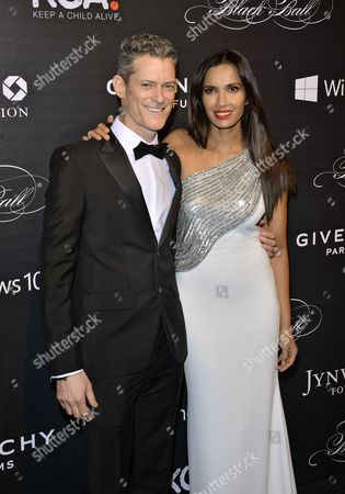Peter Twyman and Padma Lakshmi