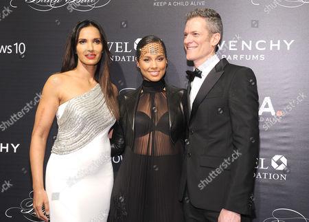 Padma Lakshmi, Alicia Keys, Peter Twyman