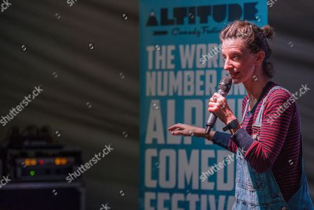 Editorial image of Altitude Comedy Tent at the Ski & Snowboard Show, London, Britain - 05 Nov 2015