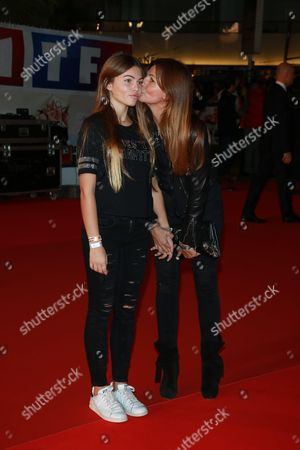 Stock Image of Veronika Loubry and her daughter Thylane Blondeau
