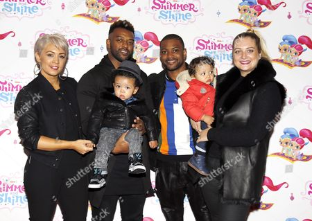 Aimee Jade, Oritse Williams with Omre and Jonathan Gill, Chloe Tangney with Ace