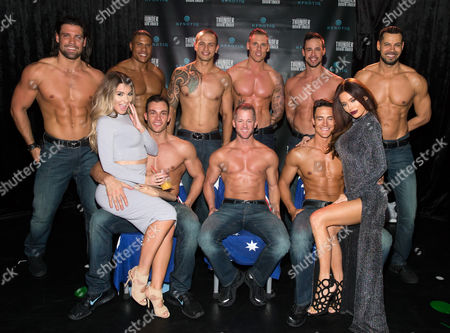 Editorial picture of Social Media Queens Night at Thunder From Down Under in Las Vegas, America - 07 Nov 2015