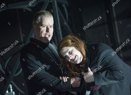 Stock Photo of James Creswell as Father Superior, Tamara Wilson as Donna Leonora