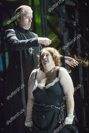 Stock Picture of James Creswell as Father Superior, Tamara Wilson as Donna Leonora