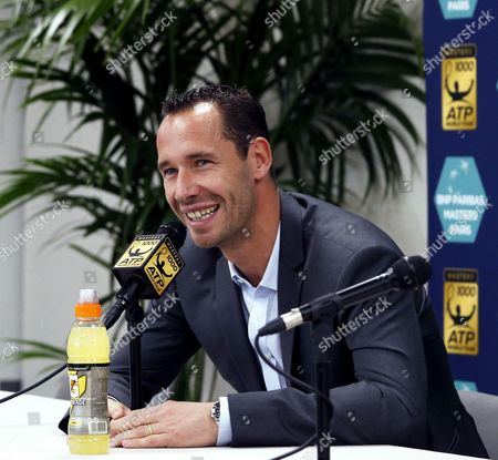 Stock Picture of French tennis player Michael Llodra announces his retirement from the game