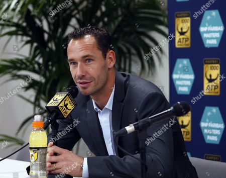 Stock Photo of French tennis player Michael Llodra announces his retirement from the game