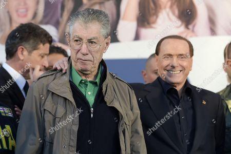 Umberto Bossi and Silvio Berlusconi