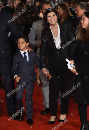 Stock Image of Cristiano Ronaldo's mother Maria Dolores Aveiro and son Cristiano Ronaldo Jnr