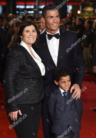 Cristiano Ronaldo with mother Maria Dolores Aveiro and son Cristiano Ronaldo Jnr