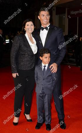 Dolores Aveiro, Cristiano Ronaldo and his son Cristiano Ronaldo Jr