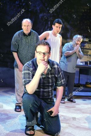 'The Arab - Israeli Cookbook' play at the Tricycle Theatre - John Normington, David Ganley, Daniel Pirrie and Nicholas Woodeson