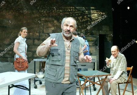 'The Arab - Israeli Cookbook' play at the Tricycle Theatre - Abigail Thaw, Nicholas Woodeson and John Normington