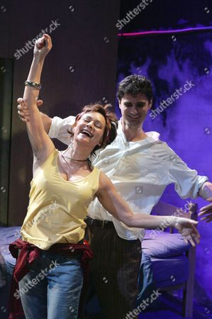 'Shoreditch Madonna' play at ther Soho Theatre - Francesca Annis (Martha) and Daniel Rabin (Michael)
