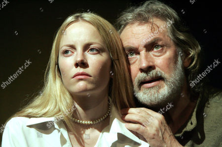 'Shoreditch Madonna' play at ther Soho Theatre - Leigh Lawson (Devlin) and Alexandra Moen (Christina)