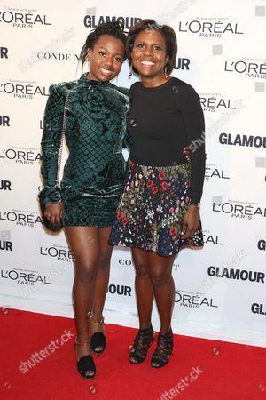 Deborah Roberts (R) and daughter Leila Roker