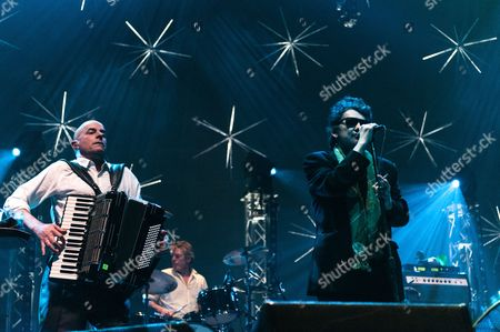 The Pogues.  James Fearnley, Shane MacGowan