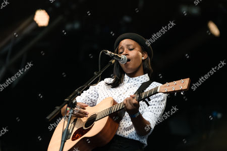 Editorial picture of Denai Moore in concert at Somerset House in London, Britain - 17 Jul 2013