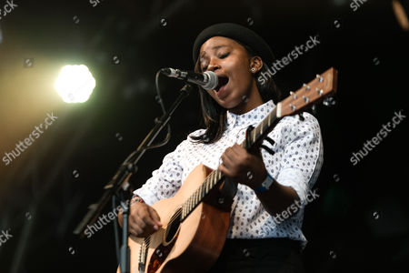 Stock Picture of Denai Moore - support act.  Denai Moore