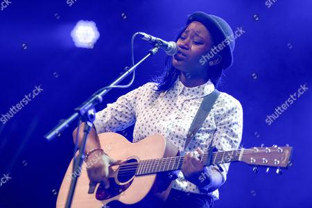 Editorial image of Denai Moore in concert at Somerset House in London, Britain - 17 Jul 2013