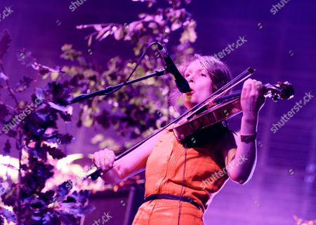 Stock Photo of British Sea Power - support act.  Abi Fry