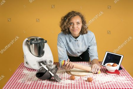 Master baker and former Great British contestant Ruby Tandoh testing kitchen ware.