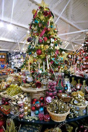 Christmas decorations sale Tree Barn Editorial Stock Photo - Stock Image    Shutterstock - Christmas Decorations Sale Tree Barn Editorial Stock Photo - Stock