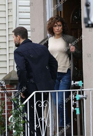 Stock Image of Gino Anthony Pesi and Jennifer Lopez