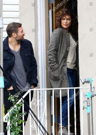 Stock Photo of Gino Anthony Pesi and Jennifer Lopez