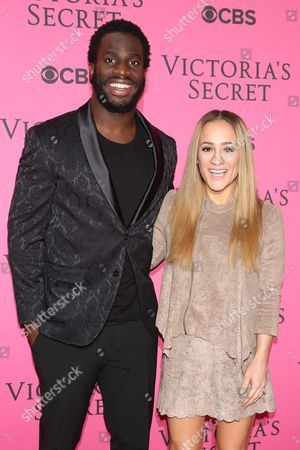 Stock Picture of Prince Amukamara and Pilar Davis