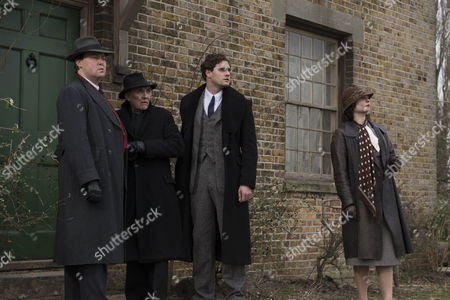 Stock Picture of Donald Sumpter as Garson, Christian McKay as Max,Tom Bateman as Jekyll and Ruby Bentall as Hils.