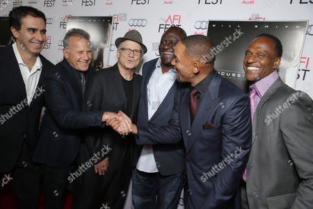 Stock Photo of Paul Reiser, Albert Brooks, Leonard Marshall, Will Smith, Willie Gault