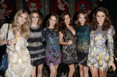 Georgie MacIntyre, Lady Alice Manners, Lady Eliza Manners, Rosie Thomas, Lady Violet Manners and Rosanna Falconer