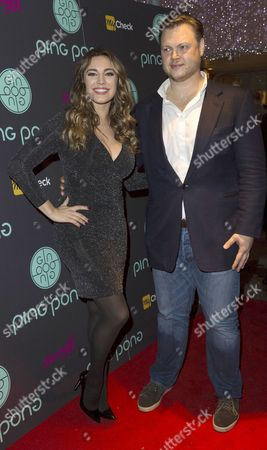 Stock Picture of Kelly Brook and Art Sagiryan, interim CEO of Ping Pong