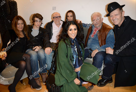 Mimi Nishikawa, Sascha Bailey, Brian Clarke, Catherine Bailey, David Bailey, Paul Simonon and Serena Rees