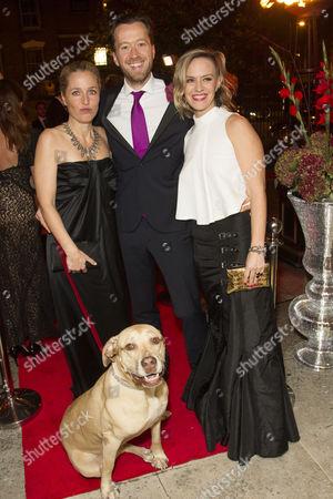 Stock Image of Gillian Anderson, Jez Bond and Awsa Bergstrom