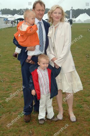 Cate Blanchett and Andrew Upton with sons Dashiell and Roman