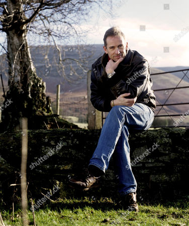 Jasper Fforde at home in the Brecon Beacons.