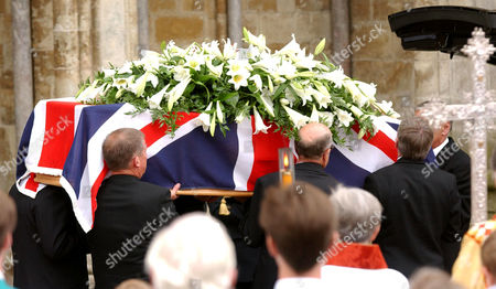 The coffin leaves the Cathedral.