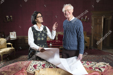 Editorial picture of Bamber Gascoigne and Wasfi Kani photoshoot, West Horsley Place, Surrey, Britain - 06 Nov 2015