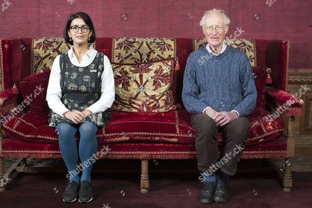 Editorial image of Bamber Gascoigne and Wasfi Kani photoshoot, West Horsley Place, Surrey, Britain - 06 Nov 2015