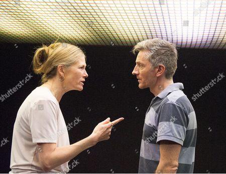 Stock Image of Kate Maravan as Di, Jonathan McGuinness as David