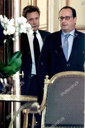 Boris Vallaud and Francois Hollande